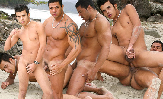 Seaside Barebacking with Latin Cock